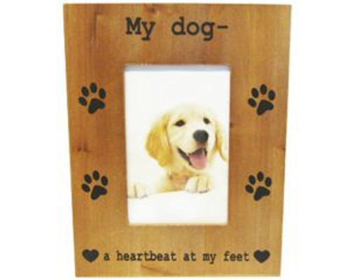 Dog Photo Frame - When I needed a hand I found your paw
