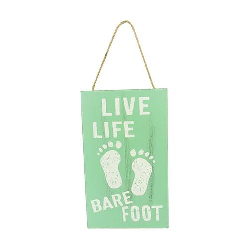 Beach Life hanger - Live Life Bare Foot