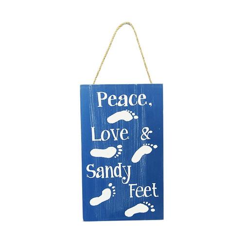 Beach Life hanger - Peace Love and Sandy Feet