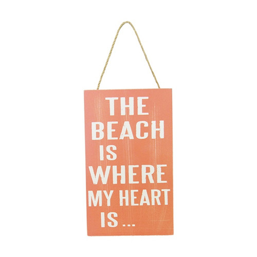 Beach Life hanger - The Beach is where my heart is ...