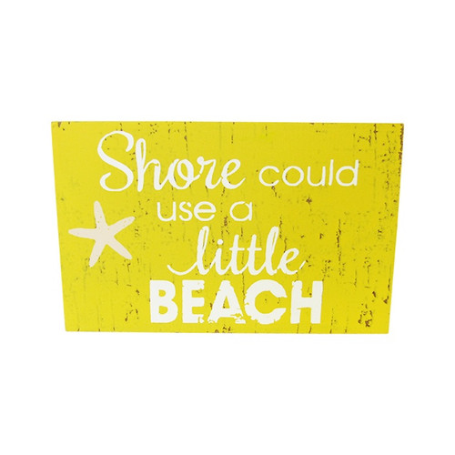 Beach theme magnet - Shore could use a little beach