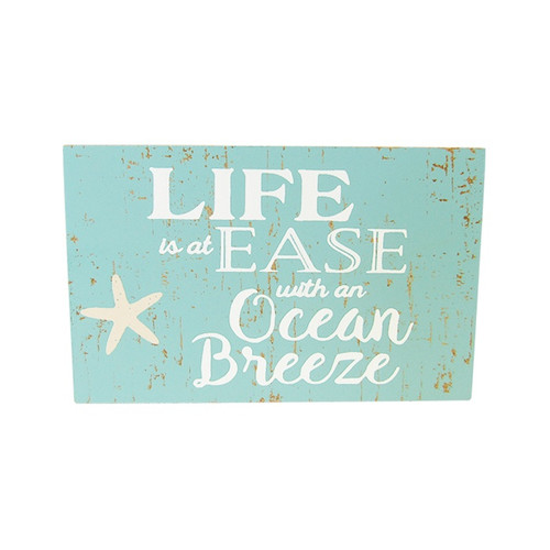 Beach theme magnet - Life is at ease with an Ocean breeze