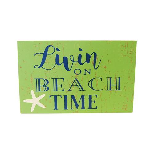 Beach theme magnet - Livin on beach time