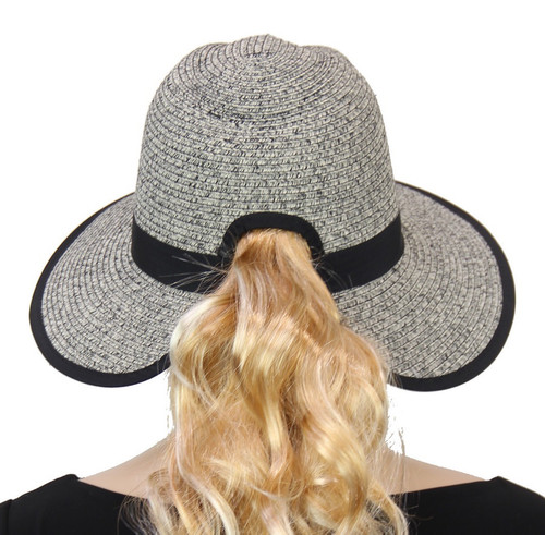 Pony Tail Hat - black and white