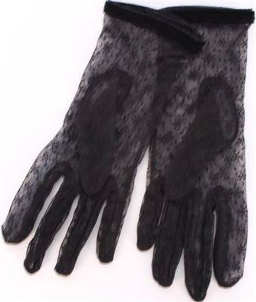 black fine lace gloves