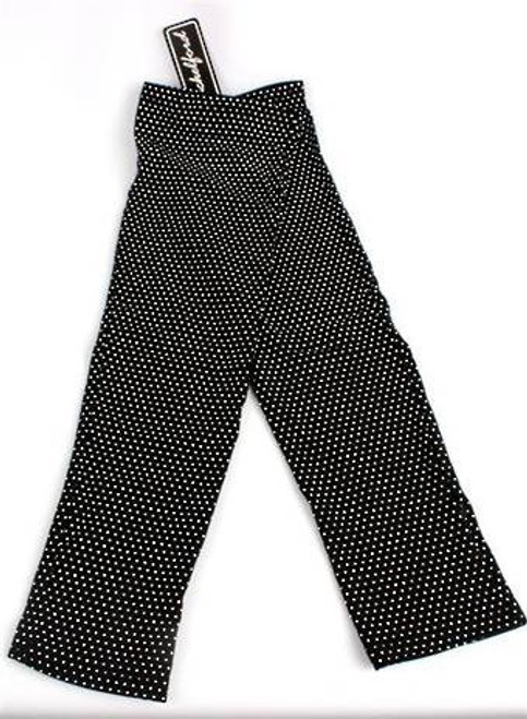3/4 length, 95% cotton, black with white spot, fingerless gloves
