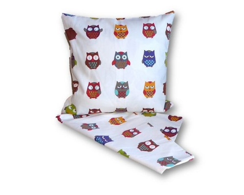 a combination of Owls cushion cover