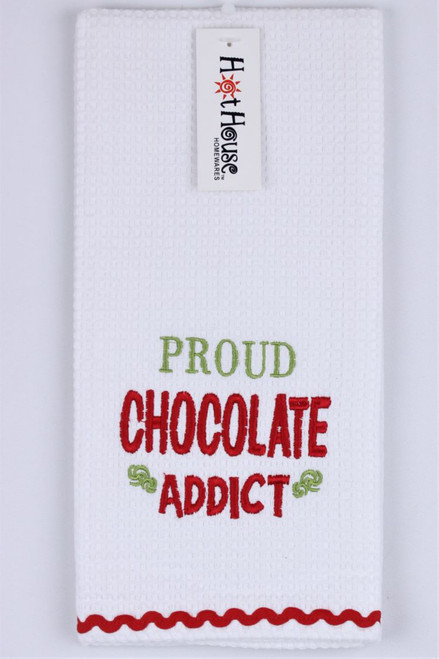 Funny Tea Towels - Proud Chocolate addict