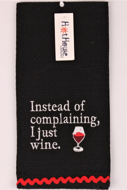 Funny Tea Towels - Instead of complaining I just wine