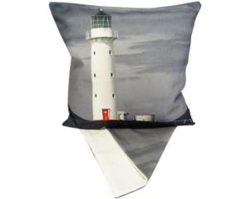 NZ Cape Egmont lighthouse - cushion cover