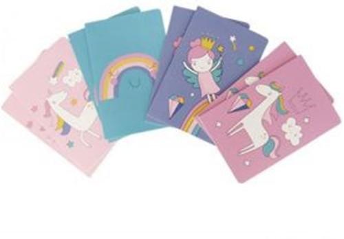 Princess, Rainbow or Unicorn Notebook - price per notebook