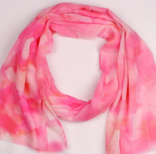 soft print coloured scarf (pink or red)