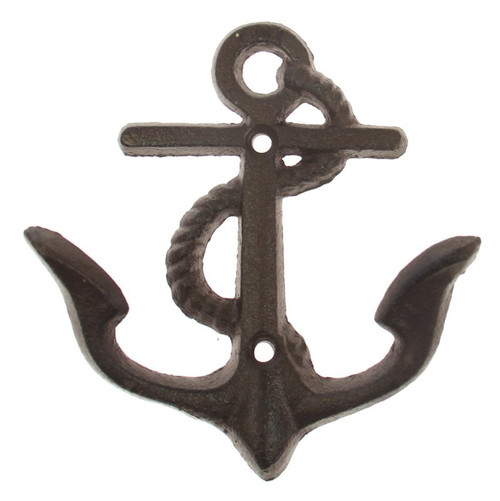 iron wall hanging anchor with 2 x hooks