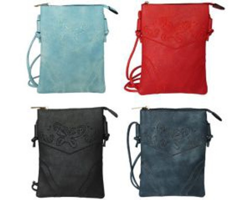 Handy little messenger bag with butterfly design - comes in 4 colours