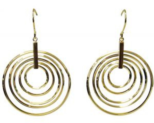 Gold circle earrings from hook