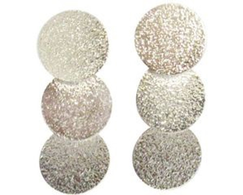Hammered rhodium 3 drop circles on post earrings