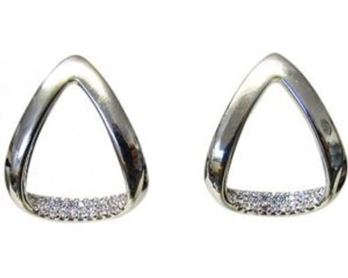 Diamante triangle earrings