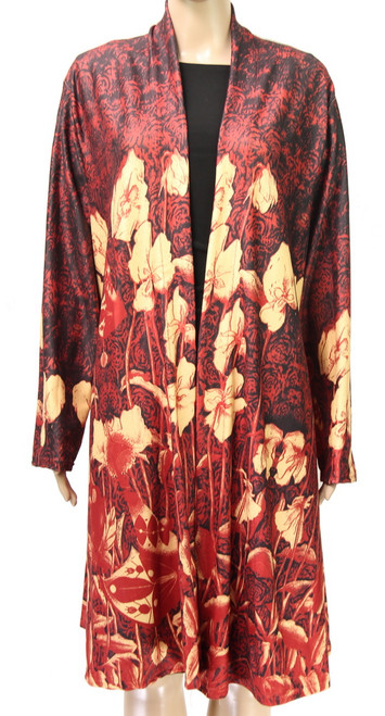 Coat Cape - Wine and Beige (comes in 2 sizes)