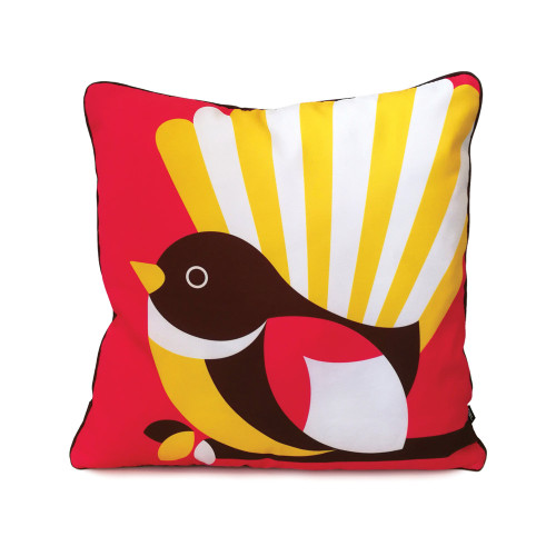Iconic native NZ Fantail cushion cover