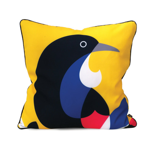 Iconic NZ Native Tui - cushion cover