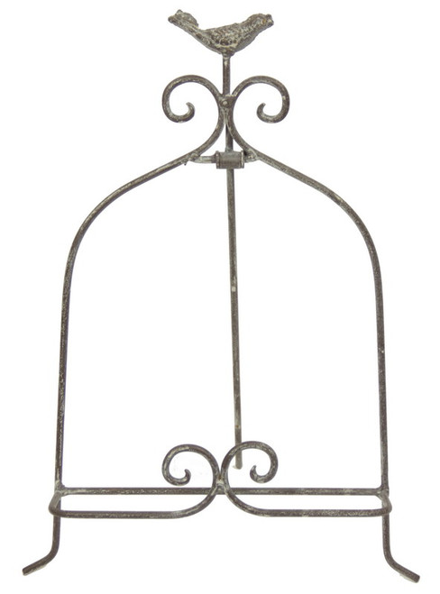 Little easel with bird on top (comes in grey or antique white)