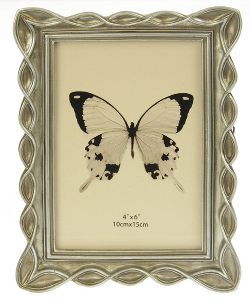 Photo frame with twirl edge to fit a 4x6 photo (comes in 2 colour options)