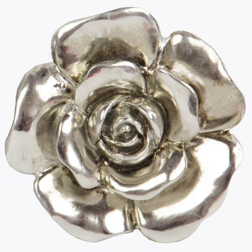 antique silver look rose wall plaque