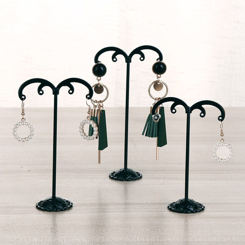 Set of 3 earring display stands (comes in black or white)