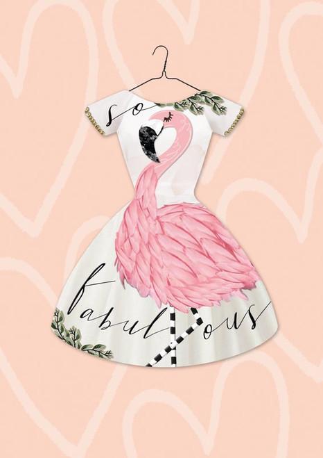 Greeting card - Fabulous Flamingo