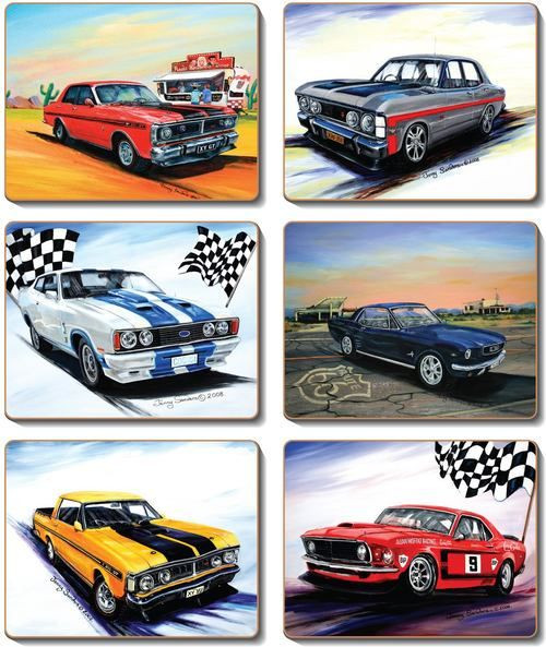 Coaster - 6 x Ford Muscle Cars