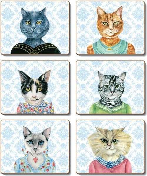 Coaster - 6 x Lady cat Luncheon images