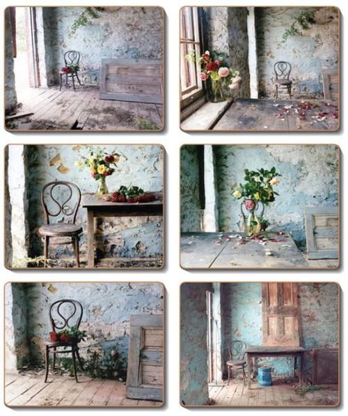 Coaster - 6 x Blue Room theme scenes