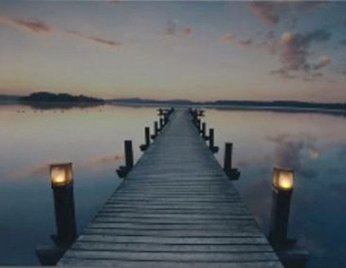 LED lit canvas 30 x 40cm - Romantic stroll pier