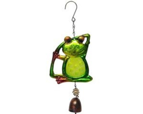 Yoga Frog wind chime with bell stretching