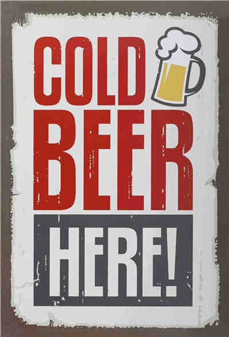 retro style tin sign - Cold Beer here