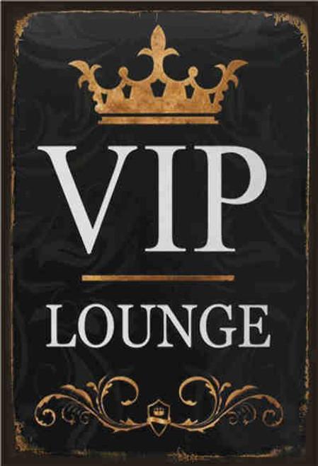 retro style tin sign - VIP Lounge
