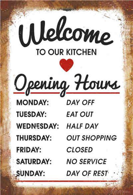 retro style tin sign - welcome to our Kitchen