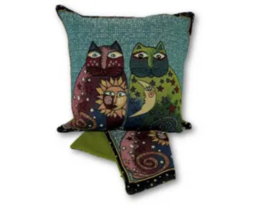 cushion cover - sun and moon cats