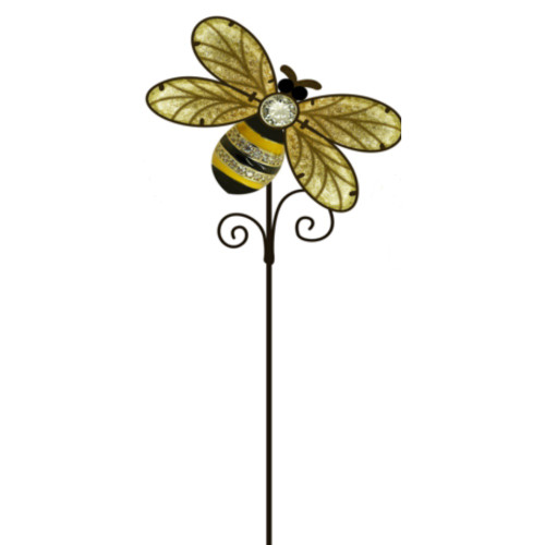 Garden Stake - Honey Bee with glass wings