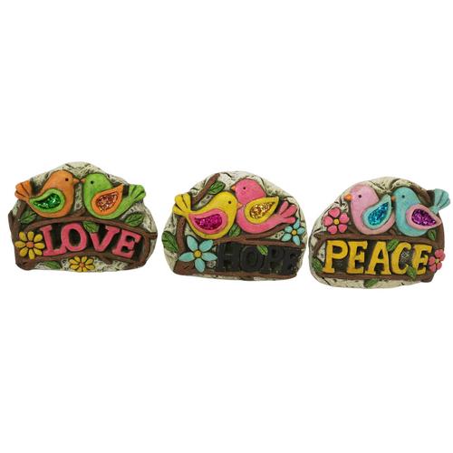 Garden  painted Stone Bird Ornamnets (price per stone)