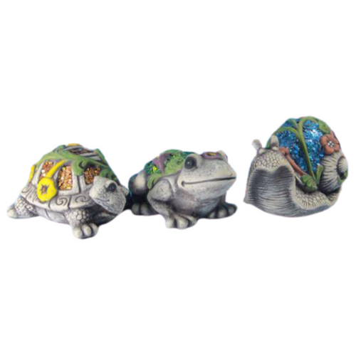 Painted and decorated cement garden animals - 3 designs - price per animal