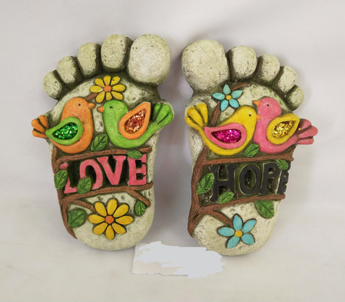 Foot stone garden art (2 designs) price per foot