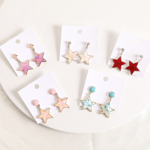 resin star dropped from stud on posts (several colours available) price per pair