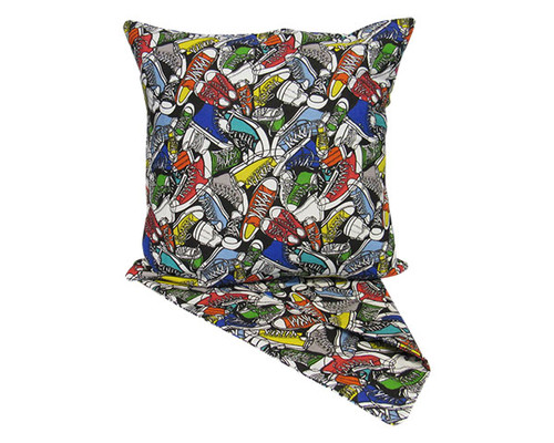 cushion cover - colourful sneakers