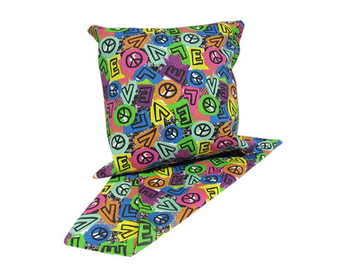 cushion cover - love and peace sign