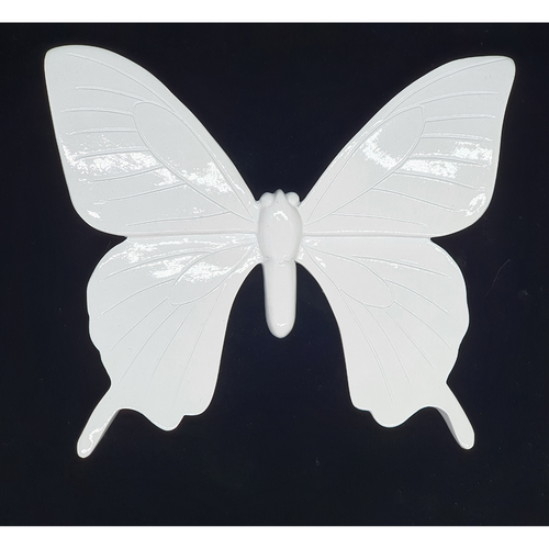 White wall hanging Butterfly - 17cm