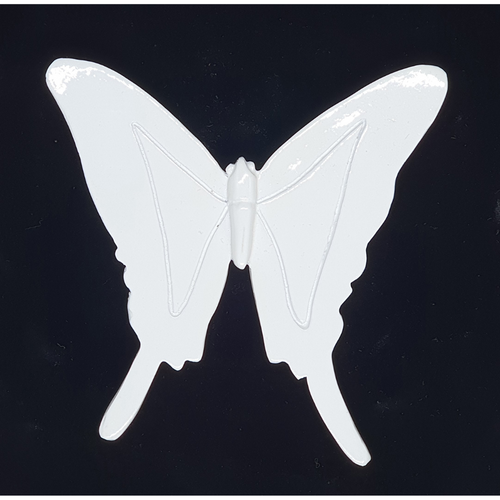 White wall hanging butterfly - 11cm