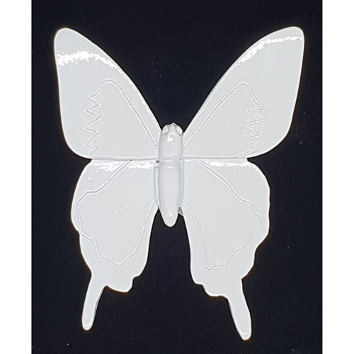 Wall hanging white butterfly -10cm