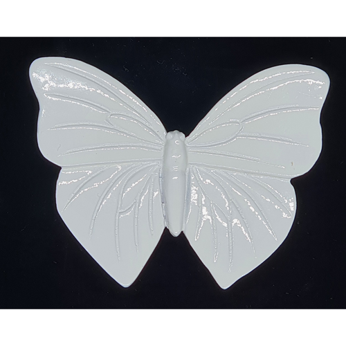 Wall hanging small white butterfly - 8cm