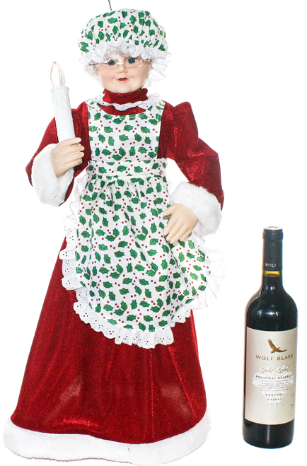 Animated Musical Mrs Claus 24 inches tall